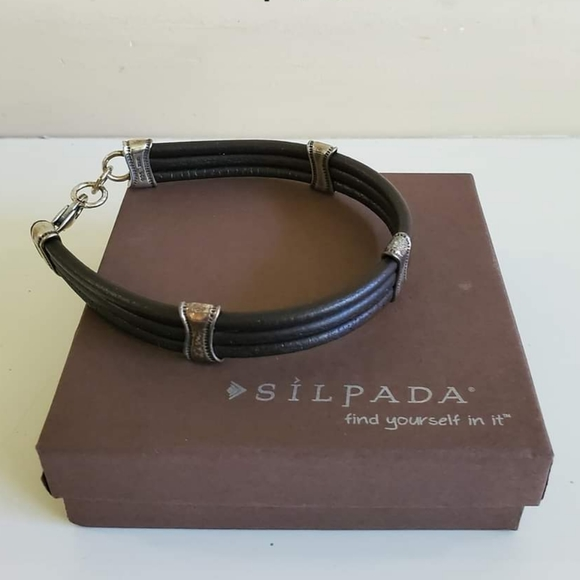 NEW Silpada Unisex Brown Bracelet